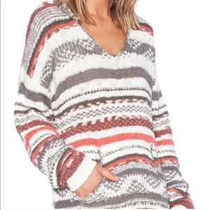 Sanctuary KNIT COZY sweater striped HOODY pockets